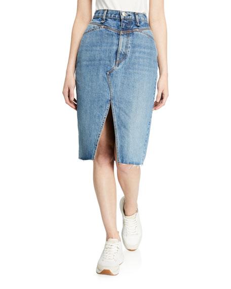 Rag & Bone Super High-Rise Denim Pencil Skirt