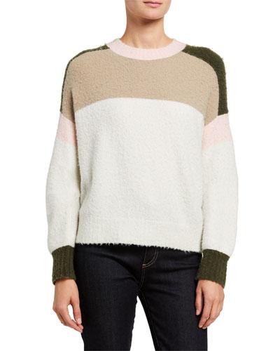 Lilou Colorblock Crewneck Sweater