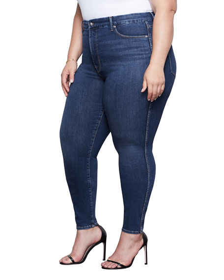 Image 4 of 4: Good American Good Curve Skinny Jeans - Inclusive Sizing