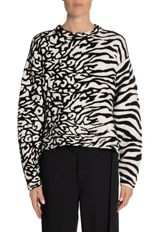 Proenza Schouler White Label Animal Jacquard Sweater
