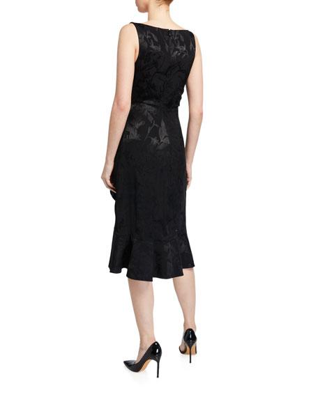 Sachin & Babi Hattie Sleeveless Drape Front Ruffled Dress