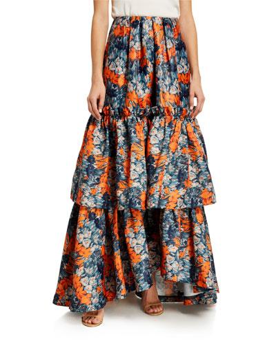 Katherine Floral Gazaar Tiered Ball Skirt
