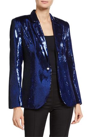 Retrofete Myma Sequined Blazer
