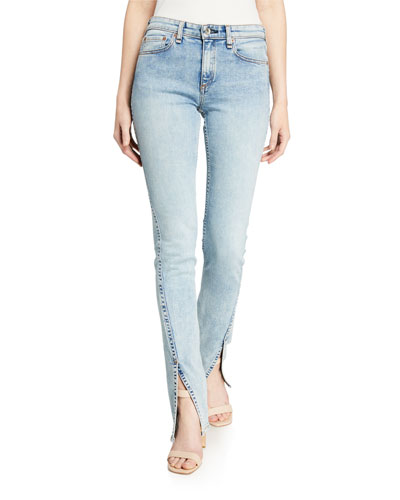 Cate Mid-Rise Split Flare Jeans