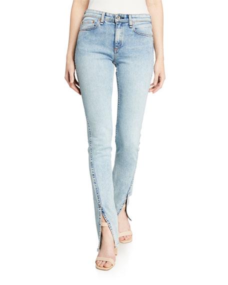 Rag & Bone Cate Mid-Rise Split Flare Jeans