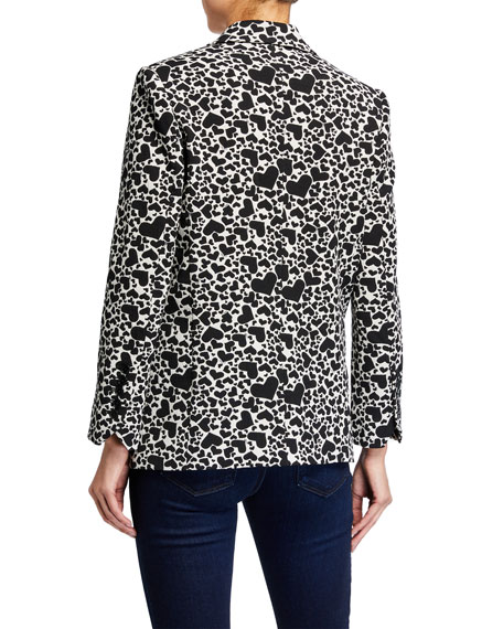 Image 3 of 3: Zadig & Voltaire Viking Heart-Print Single-Button Jacket