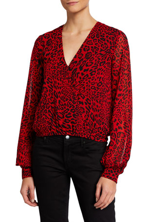 Generation Love Dory Leopard-Print Top