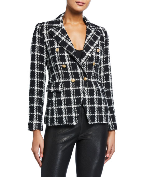 Generation Love Alexa Double-Breasted Tweed Jacket