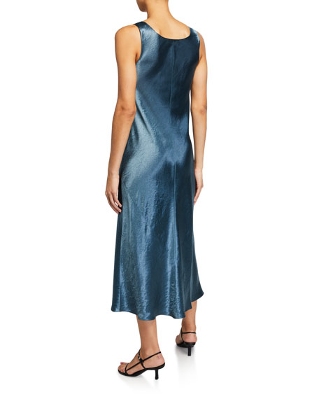 Image 2 of 2: Vince Scoop-Neck Satin Tank Dress