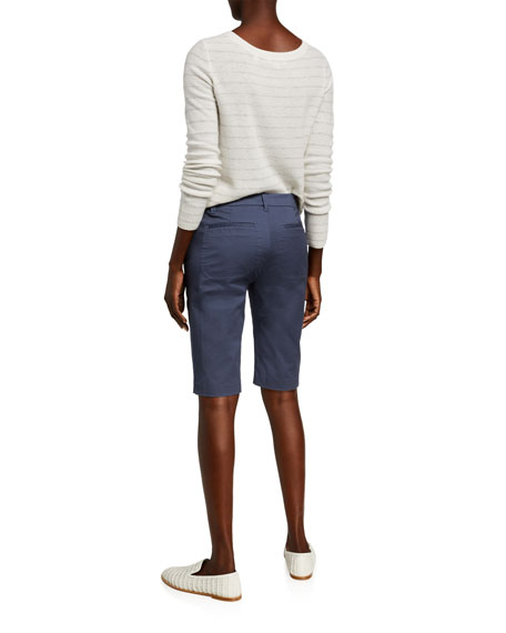 Image 4 of 4: Vince Coin Pocket Stretch Cotton Bermuda Shorts