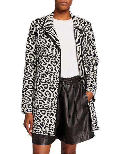 Animal-Print Wool Jacket