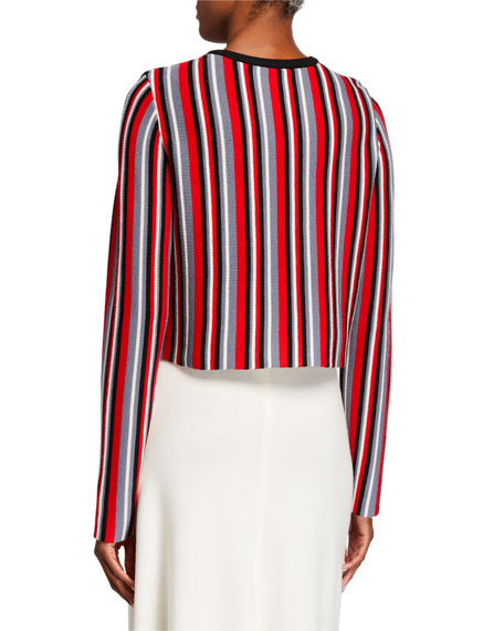 Image 2 of 2: Victor Glemaud Cropped Vertical Stripe Sweater