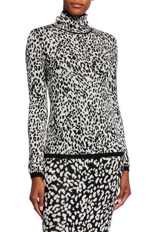Victor Glemaud Animal-Print Intarsia Wool Sweater