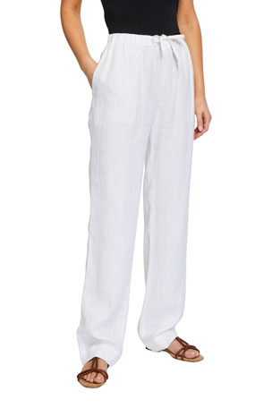 Vince Tie-Front Pull-On Pants