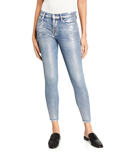 Le Skinny De Jeanne Allover Foil Jeans