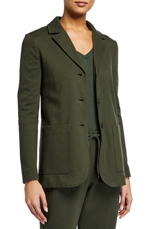 Max Mara Leisure Cotton Jersey Blazer Jacket