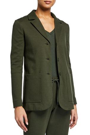 Max Mara Leisure Cotton Jersey Blazer Jacket
