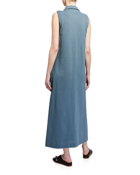 Max Mara Leisure Sleeveless Collared Long Jersey Dress