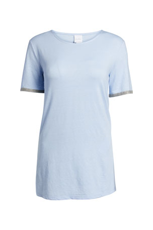 Max Mara Leisure Short-Sleeve Side-Split T-Shirt
