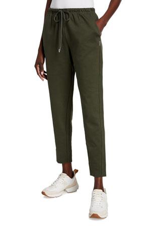 Max Mara Leisure Drawstring Cotton Jersey Pants