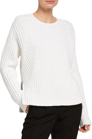 Vince Mixed Rib Crewneck Sweater