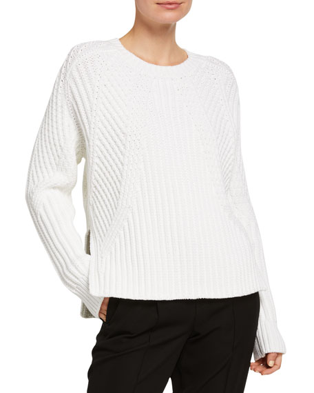 Image 1 of 2: Vince Mixed Rib Crewneck Sweater
