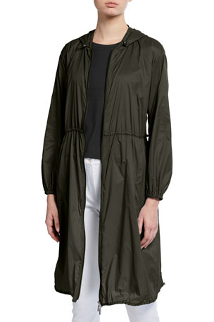 Max Mara Leisure Hooded Ultra Lite Long Raincoat