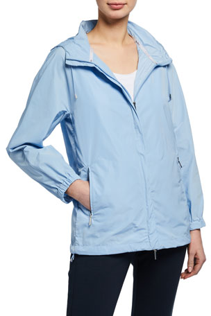Max Mara Leisure Drawstring Hooded Raincoat