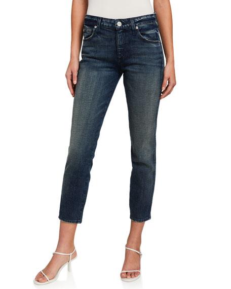 AMO Denim Stix Crop Mid-Rise Ankle Skinny Jeans