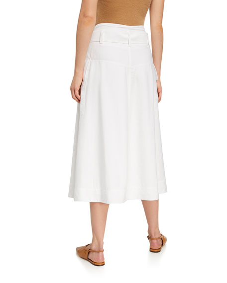 Image 2 of 2: Vince Belted Utility Midi Skirt