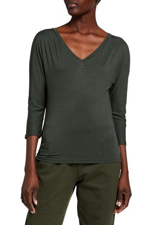 Essentials Relaxed Long-Sleeve Sleep T-Shirt Femme