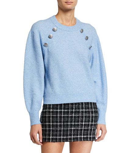Wyatt Button Embellished Sweater