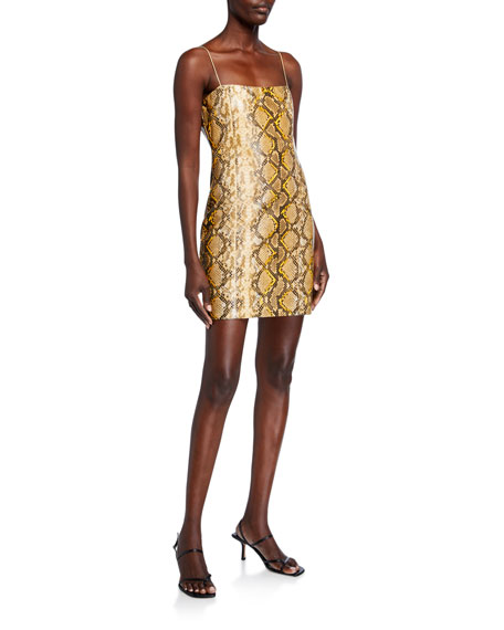 Likely Hayley Metallic Python Cocktail Dress
