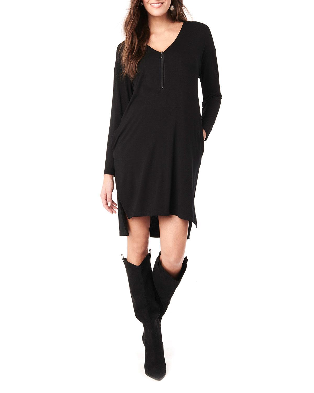Loyal Hana Maternity Farah V-Neck Long-Sleeve Jersey Dress