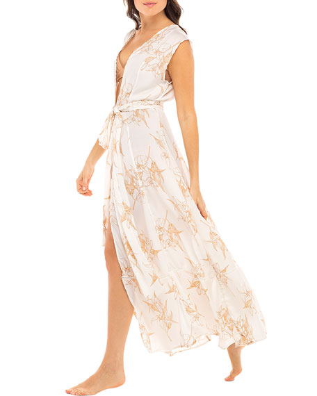 Revel Rey Audrey Crepe Duster Coverup