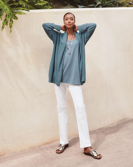 Eileen Fisher Peruvian Organic Cotton Kimono Cardigan