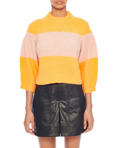 Cozette Striped Alpaca Sweater