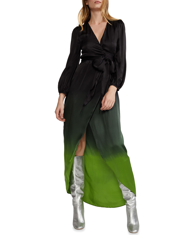 Cynthia Rowley Felicity Ombre High-Low Wrap Dress