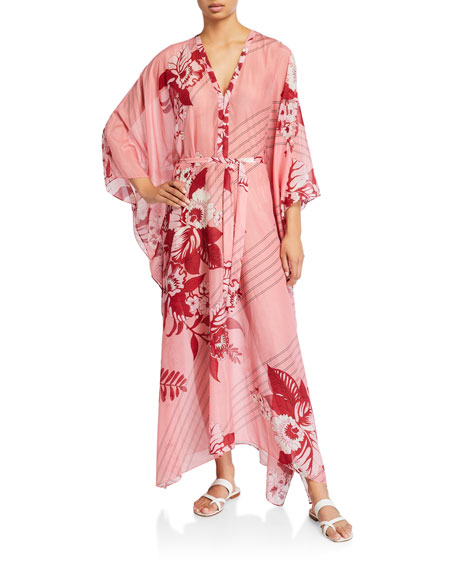 Etro Jasmine Floral Print Cotton-Silk Dress