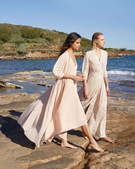 Hansine Athena Printed Wrap Coverup Dress