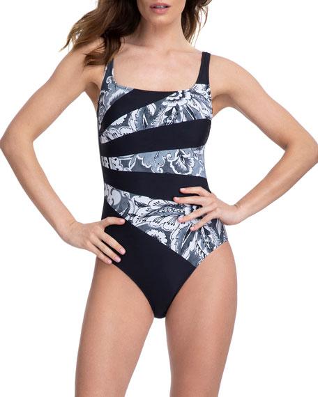 Gottex Treasure Trove Square-Neck One-Piece Swimsuit