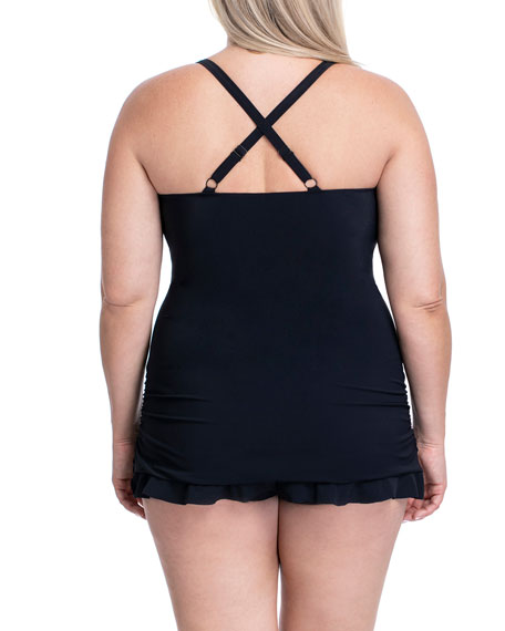 Profile by Gottex Plus Size Wild Thing Underwire One-Piece Swimsuit