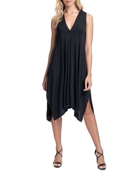 Profile by Gottex Bel Air Button-Front Cover Up Dress
