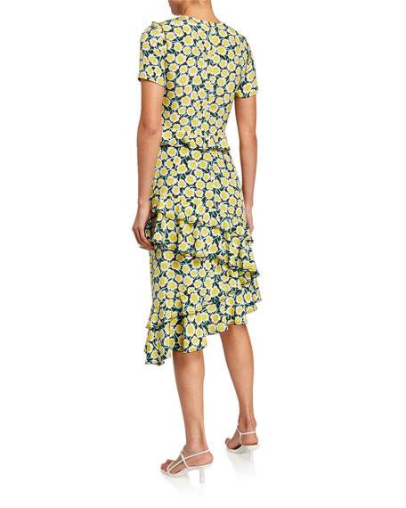 Diane von Furstenberg Glenys Floral-Print Tiered Ruffle Dress