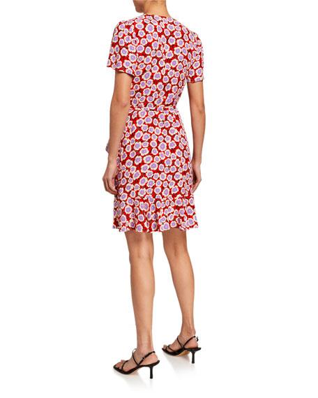 Diane von Furstenberg Estrella Floral Short-Sleeve Wrap Dress