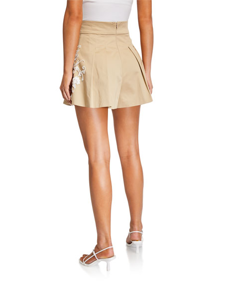Alexis Gerona Pleated Shorts w/ Applique