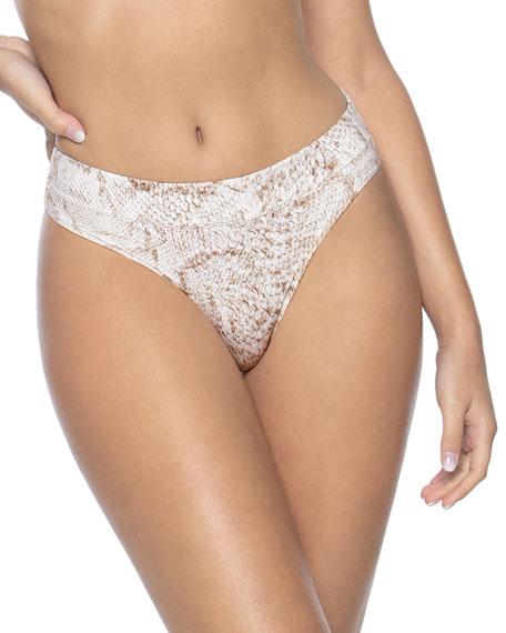 PilyQ High-Waist Full-Coverage Bikini Bottoms