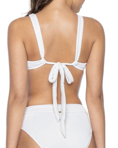 PilyQ Halter Bikini Top w/ Hardware