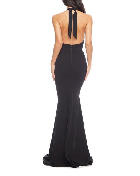 Dress The Population Camden Mermaid Halter Gown