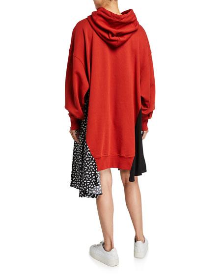McQ Alexander McQueen Hybrid Asymmetrical Hoodie Dress